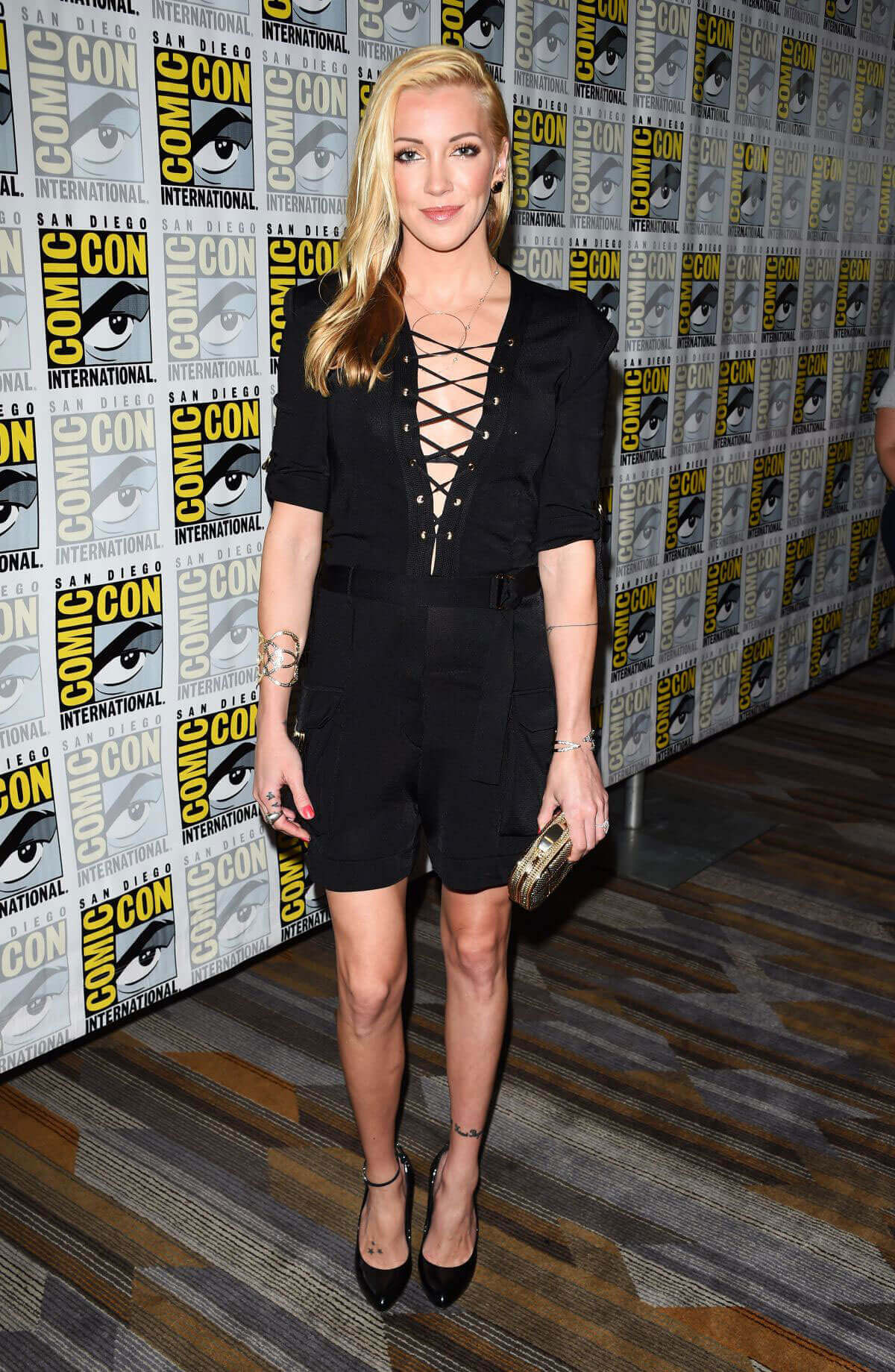 Katie Cassidy Stills at Arrow Press Line at Comic-con in San Diego