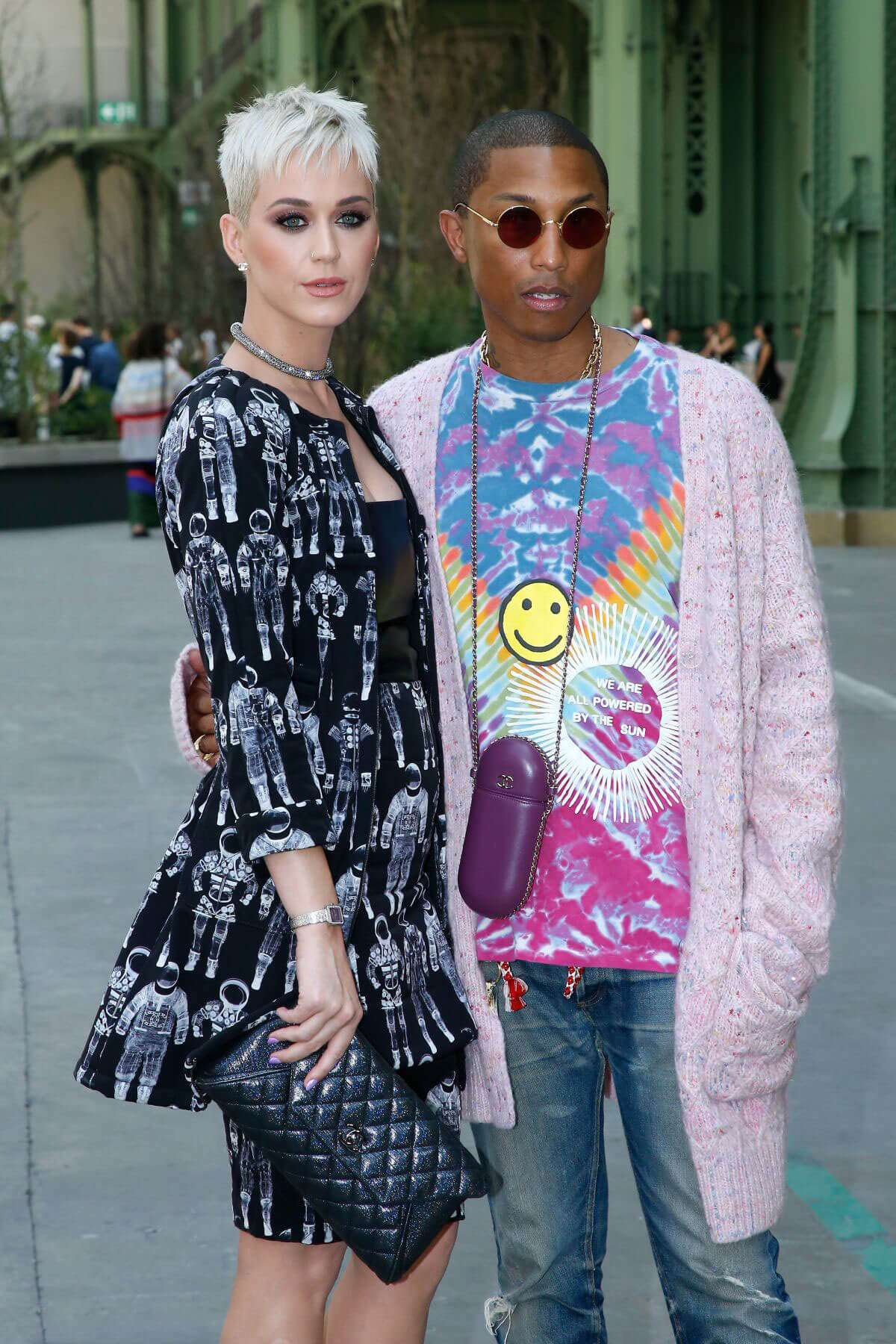 Katy Perry and Pharrell Williams Stills at Chanel Fashion Show in Paris