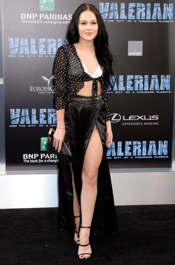 Kelli Berglund Stills at Valerian and the City of a Thousand Planet Premiere in Hollywood