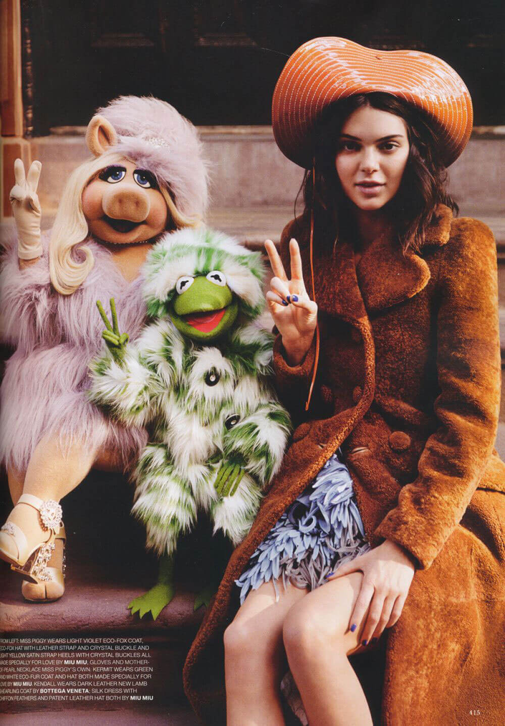 Kendall Jenner and Muppets Photoshoot for Love Magazine