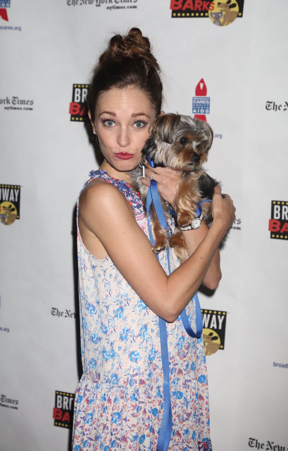 Laura Osnes Stills at 19th Annual Broadway Barks Animal Adoption Event in New York