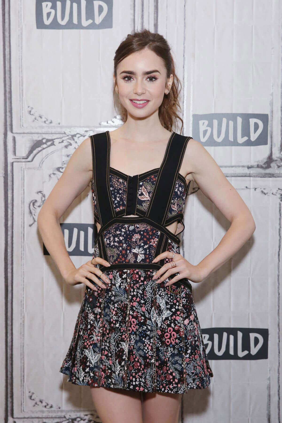Lily Collins Stills at AOL Build Show in New York