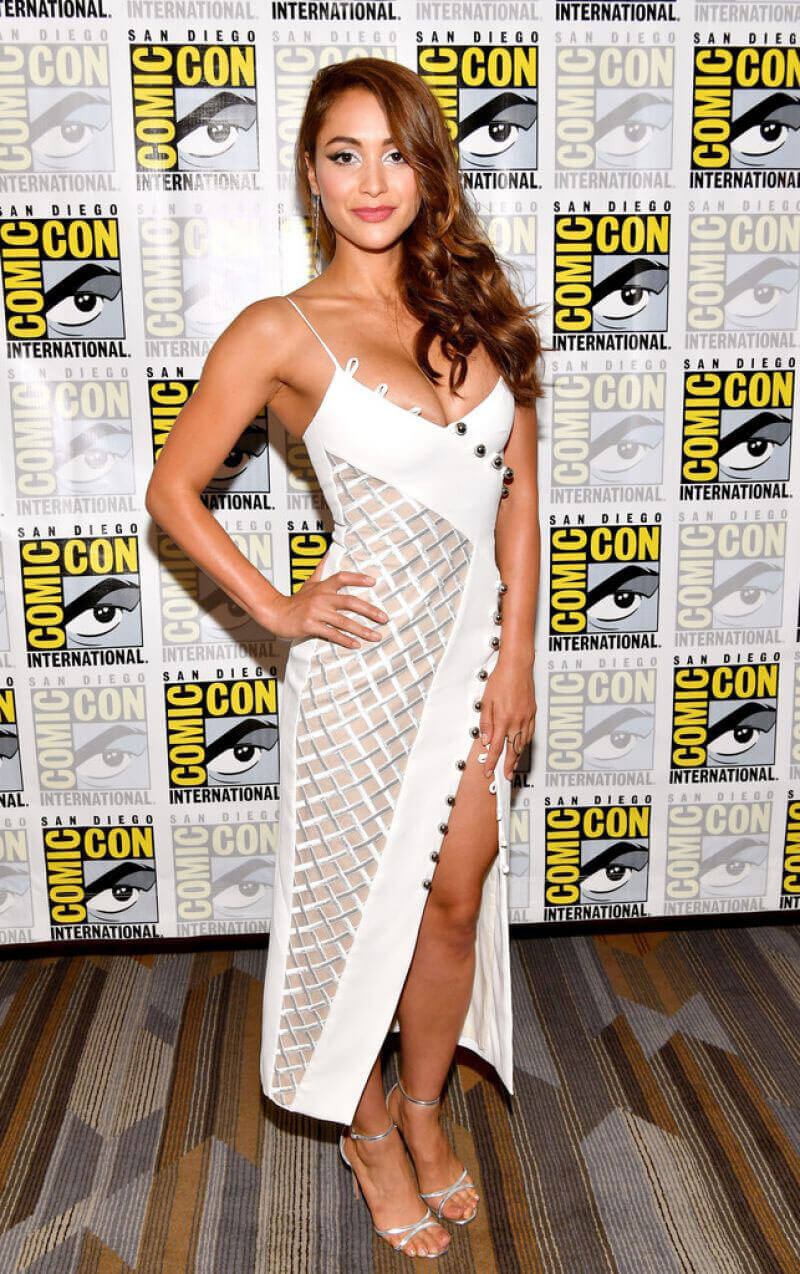 Lindsey Morgan Stills at The 100 Panel at Comic-con in San Diego