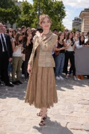 Louise Bourgoin Stills at Christian Dior Show at Haute Couture Fashion Week in Paris