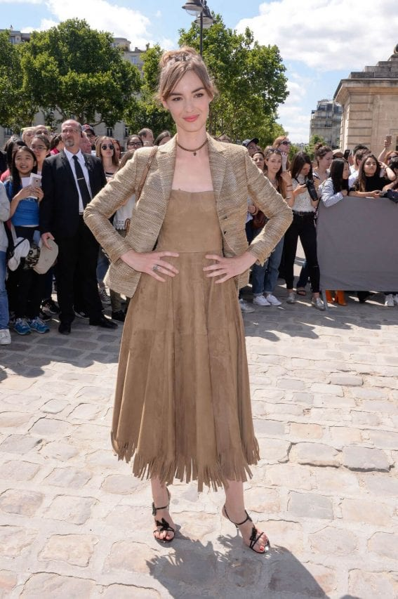 louise bourgoin stills at christian dior show at haute