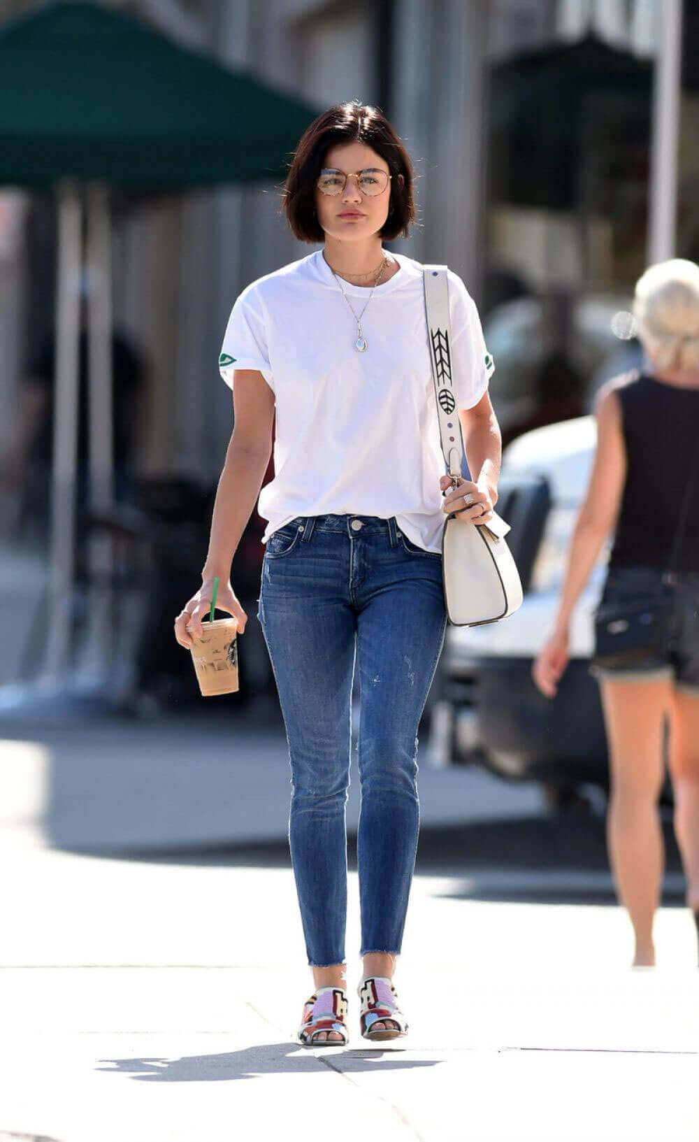 Lucy Hale Out for Coffee in Los Angeles Photos
