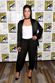 Marie Avgeropoulos Stills at The 100 Press Line at Comic-con in San Diego