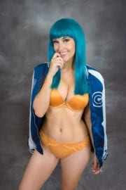 Meg Turney Photoshoot for dressed as Bulma