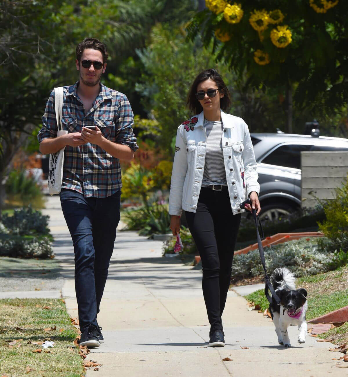 Nina Dobrev Stills Out for Lunch with Her Dog in Los Angeles