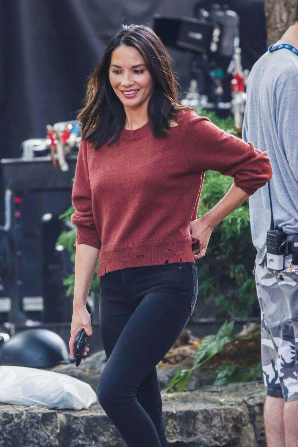 "Olivia Munn Stills at ""Six"" Season 2 Set in Vancouver"