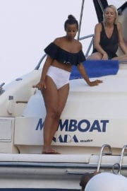 Rochelle Humes Stills in Bikini at a Boat in Ibiza Images