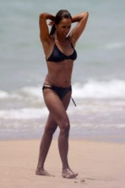 Rosario Flores Stills in Bikini at a Beach in Vejer De La Frontera