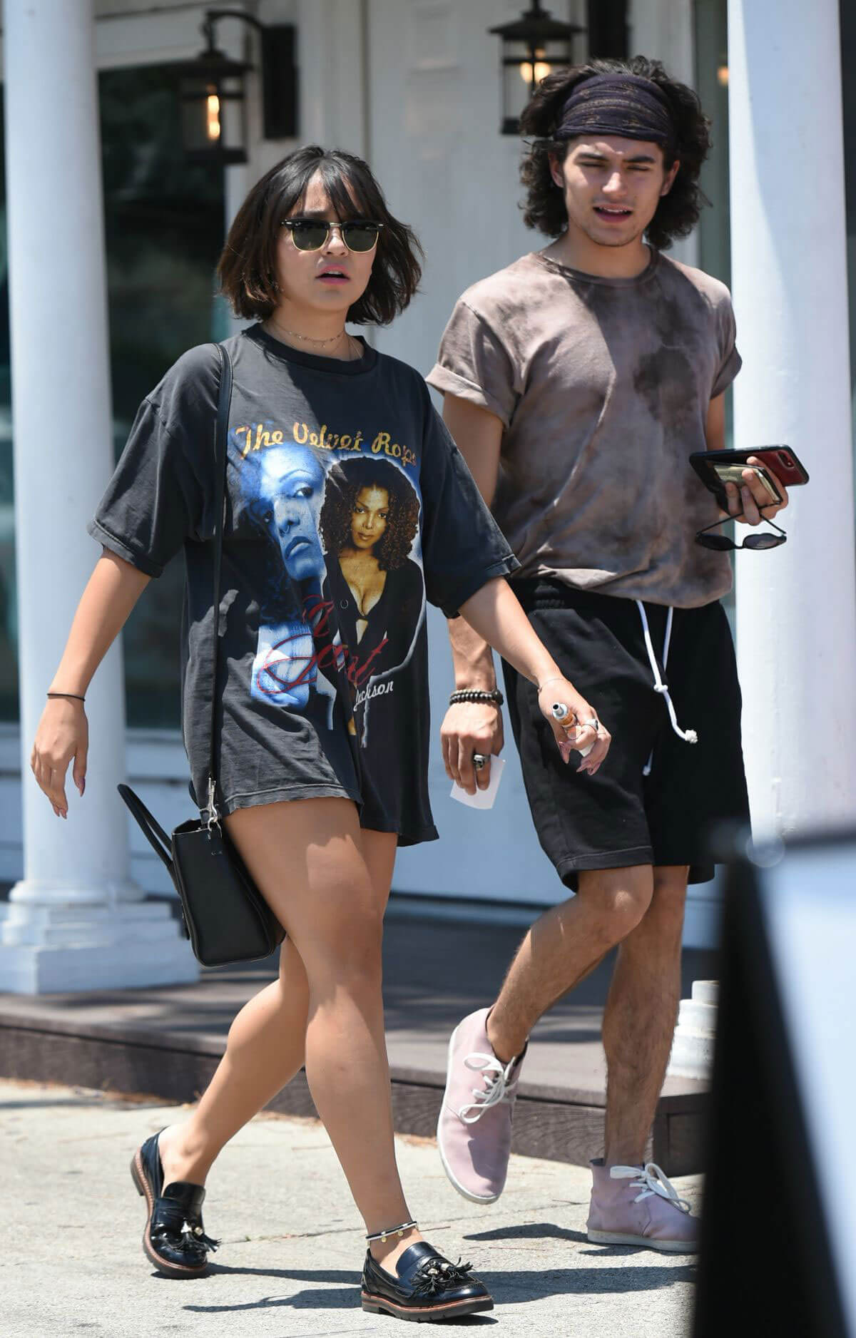 Stella Hudgens Stills Out for Lunch with a Friend in Los Angeles