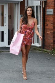 Tyla Carr Leaves Pretty Little Thing Clothing in Manchester Photos