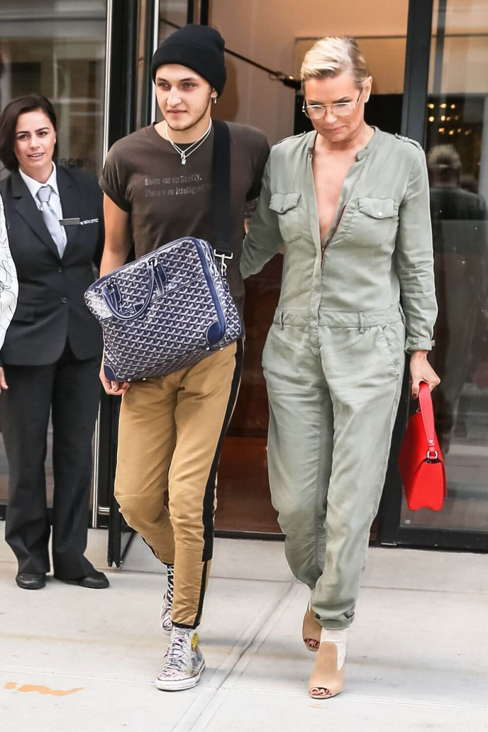 Yolanda Hadid and Anwar Hadid Stills Out in New York