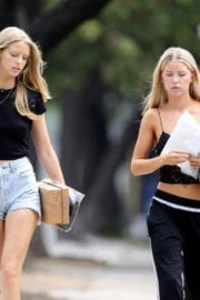 Abby and Baskin Champion Stills Out and About in Los Angeles