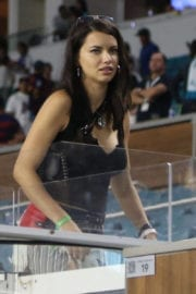 Adriana Lima Stills at Real Madrid vs Barcelona Friendly Game in Miami Images