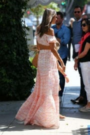 Alessandra Ambrosio Celebrates Daughter Birthday Out for Lunch at Ivy in Beverly Hills