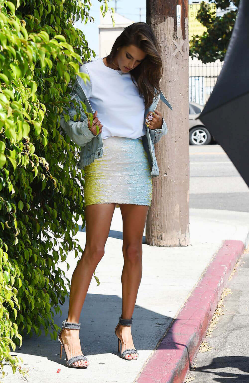 Alessandra Ambrosio Stills on the Set of a Photoshoot in Los Angeles