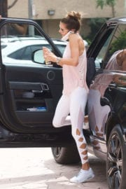 Alessandra Ambrosio wears tight bottom out and about in Brentwood