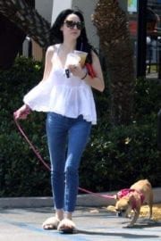 Alessandra Torresani Stills Out With Her Dog in Los Angeles