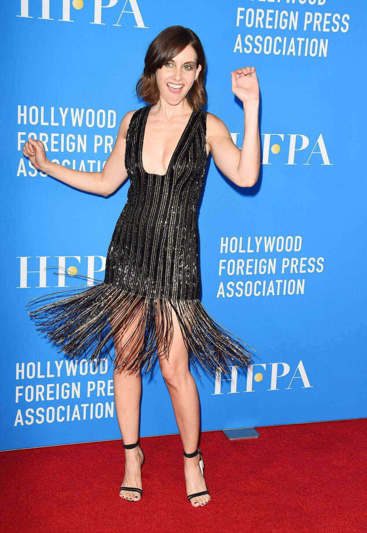 Alison Brie Stills at HFPA's Grants Banquet in Beverly Hills