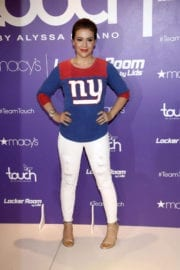 """Alyssa Milano Stills at """"Touch"""" Launch at Macy's Herald Square in New York"""