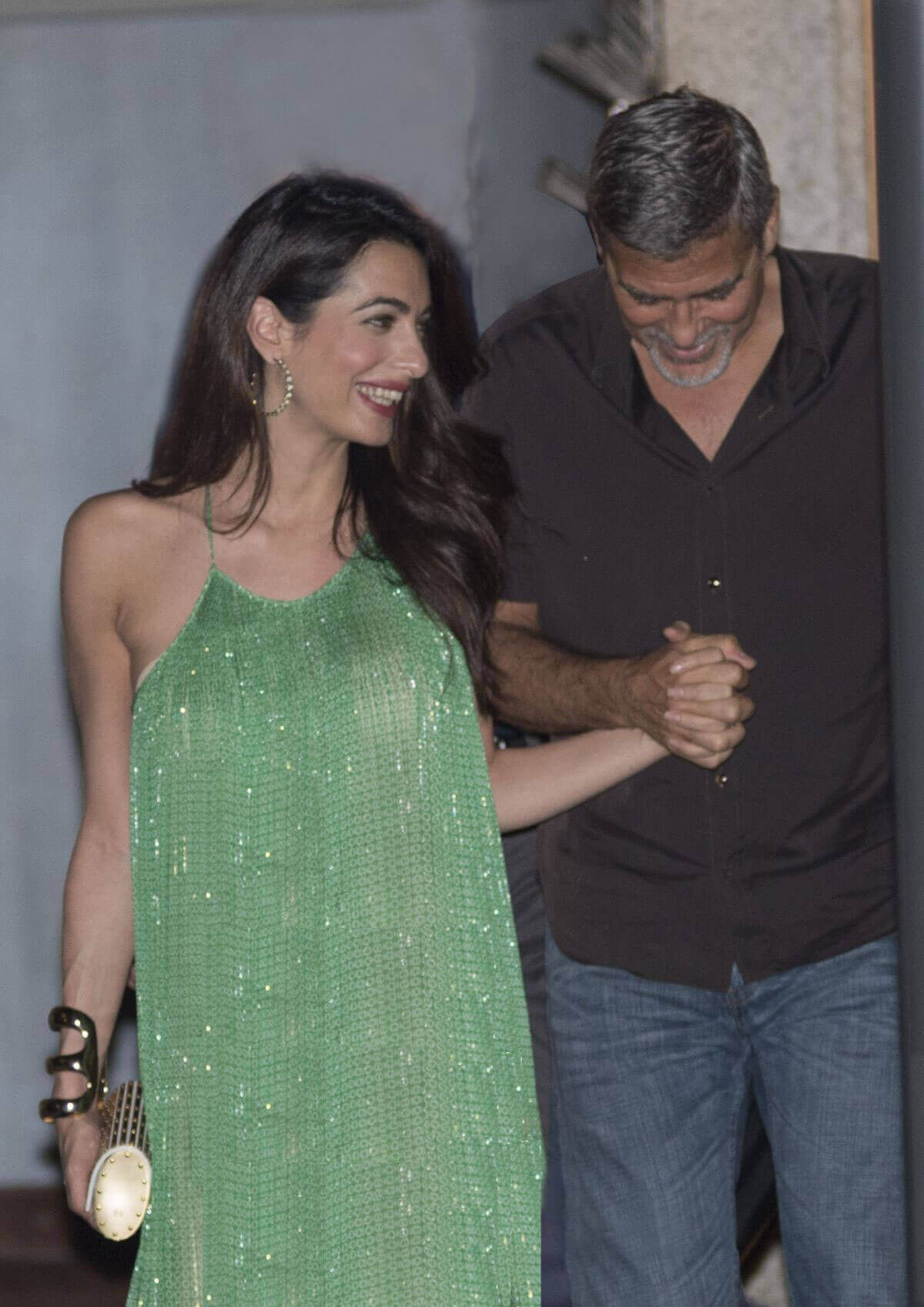 Amal and George CLOONEY Stills Out for Dinner at Harry's Bar in Cernobbio