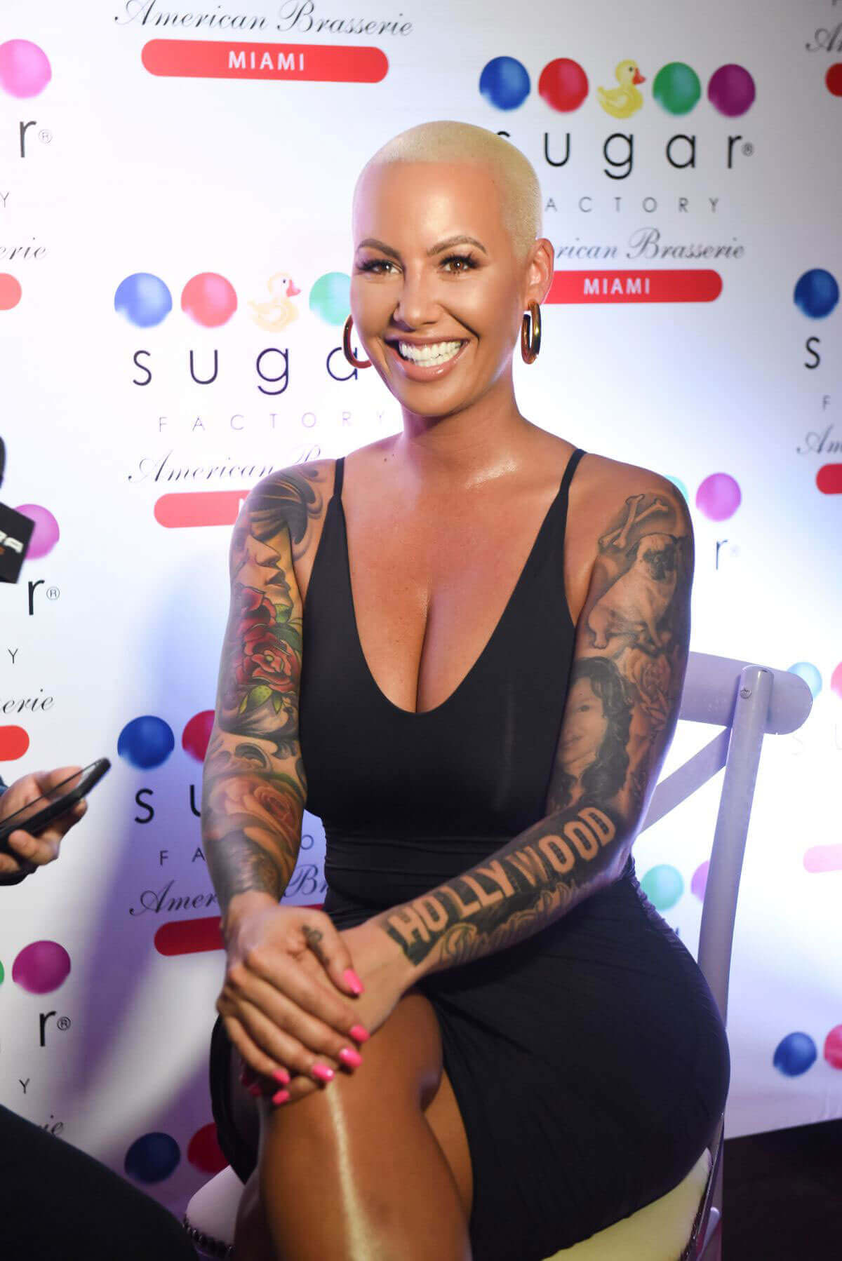 Amber Rose Stills at Sugar Factory American Brassiere in Miami
