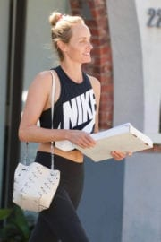 Amber Valletta Stills in Tights Out in Brentwood