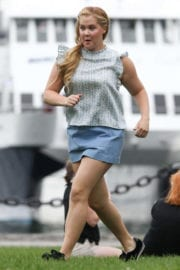 Amy Schumer Stills on the Set of I Feel Pretty in Boston Photos