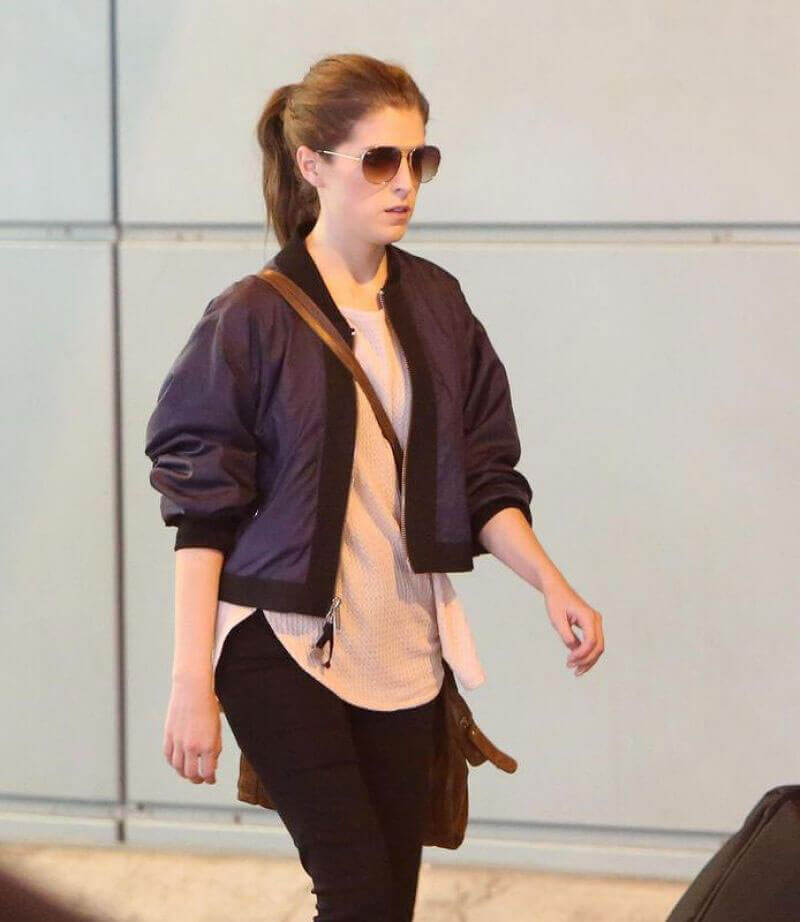 Anna Kendrick Stills Arrives at Airport in Toronto