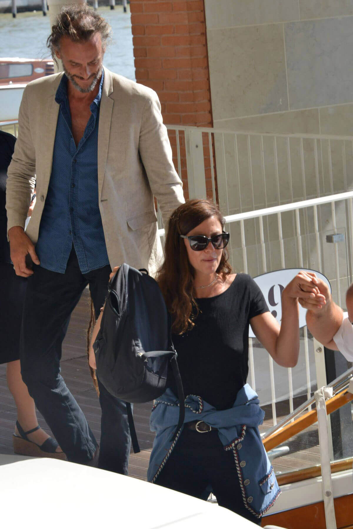 Anna Mouglalisand and Vincent Raes Stills Arrives at the Venice Airport, Italy