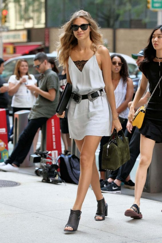 Annika Krijt shows off lean legs at Victoria's Secret Auditions in New York