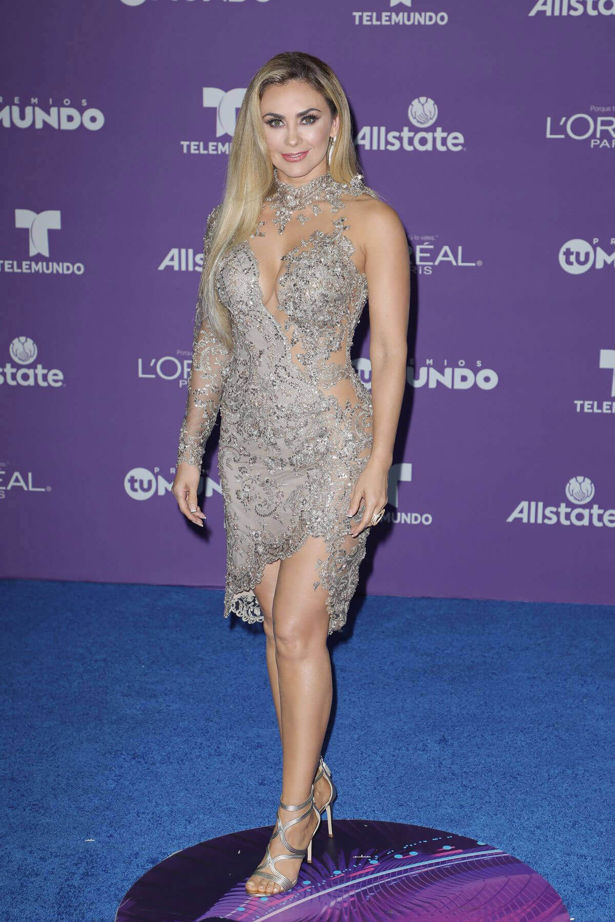 Aracely Arámbula Stills at Telemundo's 2017 Premios tu Mundo at in Miami