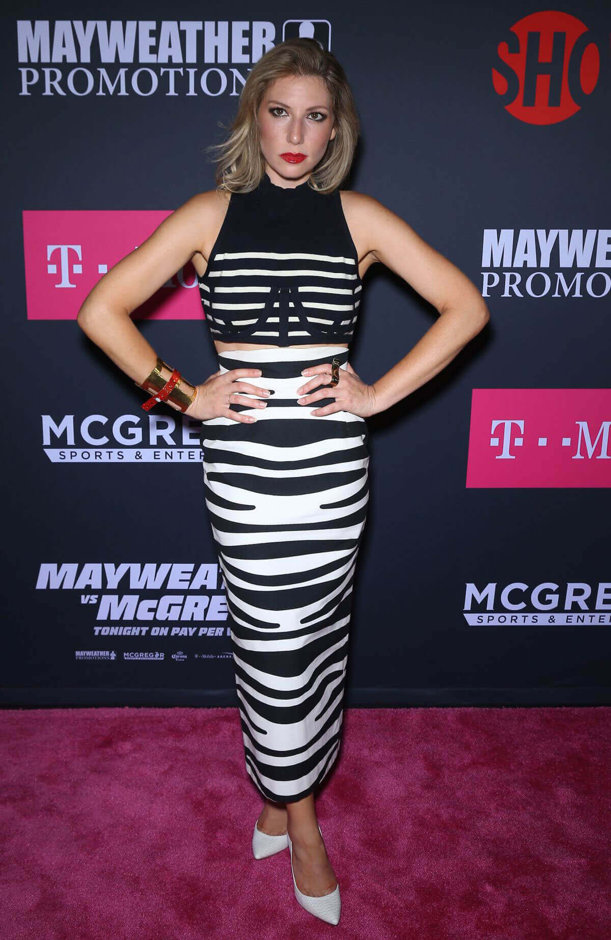 Ari Graynor Stills Mayweather vs McGregor Pre-Fight VIP Red Carpet in Las Vegas