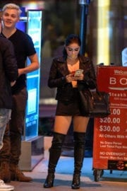 Ariel Winter flashes cleavage out for LA restaurant in Los Angeles