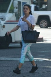Ariel Winter wears Tights at a Gym in Los Angeles