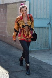 Bella Thorne Flashes Cleavage Out and About in Los Angeles