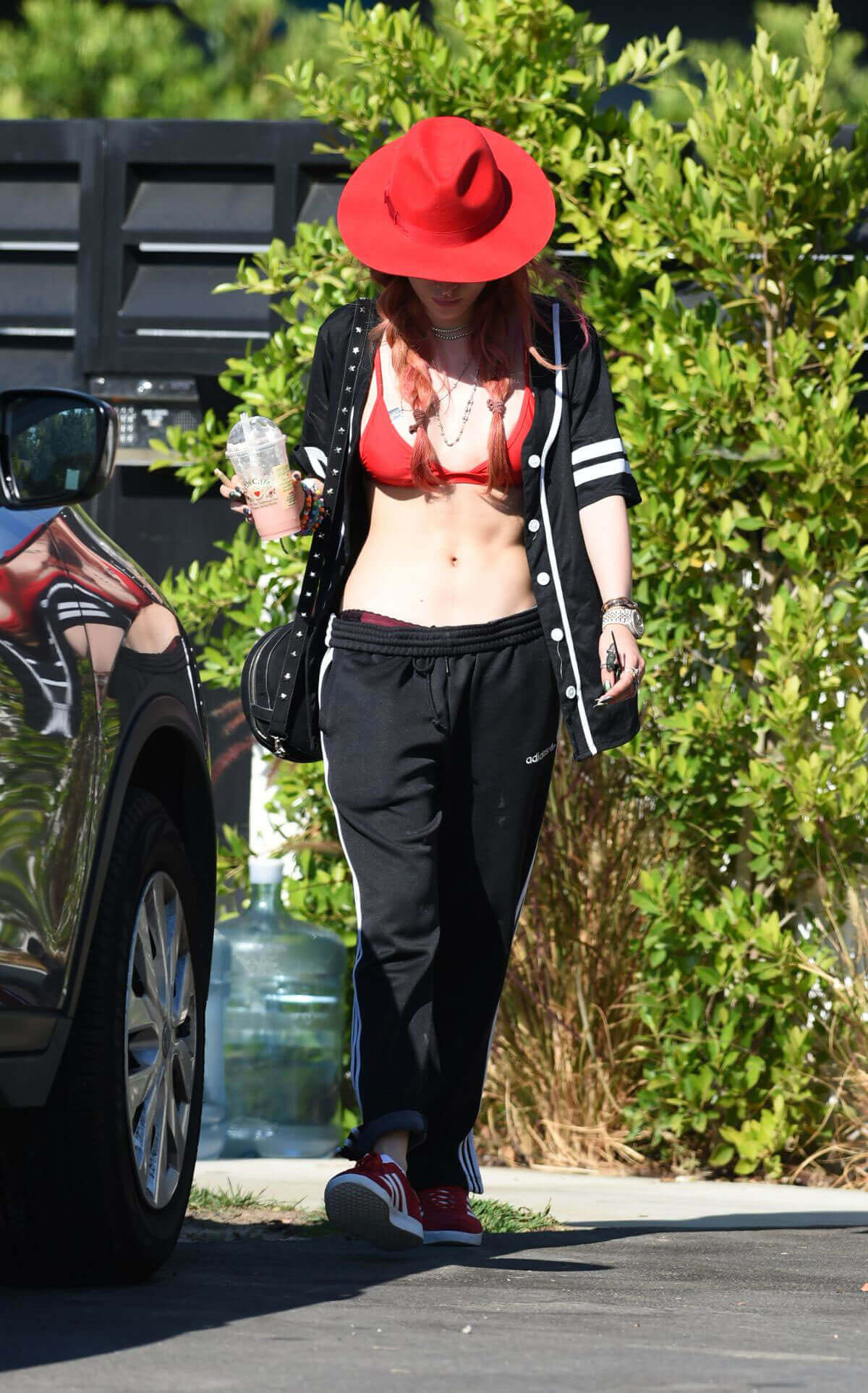 Bella Thorne shows off red hot curves leaves her home in Los Angeles