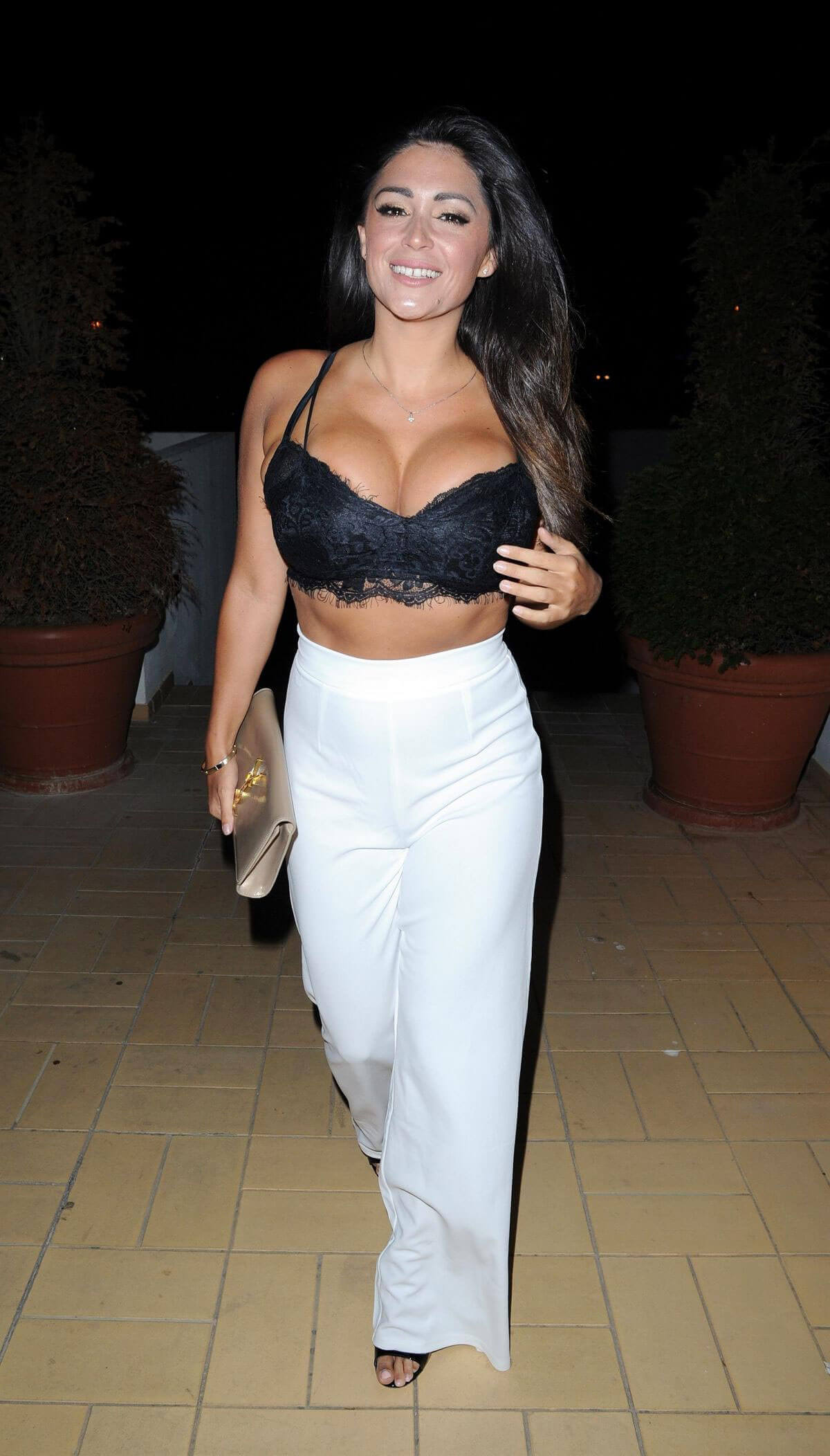 Casey Batchelor Shows Off Big Bosoms Night Out In Portugal