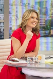"""Charlotte Hawkins Stills at """"This Morning"""" TV Show in London"""