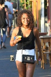 Christina Milian show off thighs in shorts Out in Saint-Tropez
