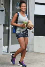 Christina Milian Stills Out for Breakfast in Los Angeles