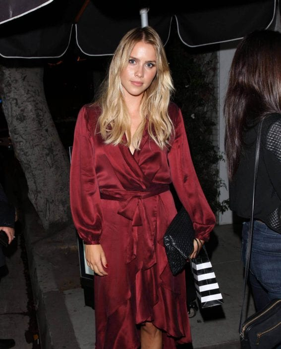 Claire Holt Stills at Harper's Bazaar September Issue Dinner in West Hollywood