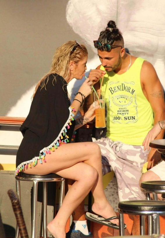 Danniella Westbrook and Alan Thomason Stills at a Cocktail Bar in Marbella