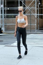 Daphne Groeneveld Stills in Tights Leaves Gym in New York