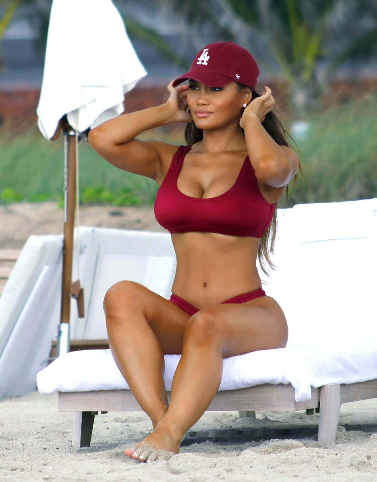Daphne Joy Stills in Bikini at a Beach in Miami Images