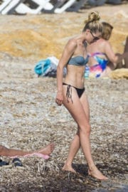 Doutzen Kroes Stills in Bikini at the Beach in Ibiza