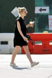 Elle Fanning Stills Our for Iced Coffee in New York Photos
